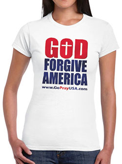 GoPrayUSA Ladies T-shirt